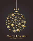 Κάρτα Χριστουγέννων. Διανυσματική απεικόνιση. Στοκ Εικόνες