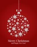 Κάρτα Χριστουγέννων. Διανυσματική απεικόνιση. Στοκ Φωτογραφία
