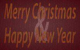 Κάρτα Χριστουγέννων εφημερίδων Στοκ εικόνα με δικαίωμα ελεύθερης χρήσης