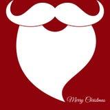 Κάρτα Χριστουγέννων και υπόβαθρο με το διάνυσμα Άγιου Βασίλη Στοκ εικόνες με δικαίωμα ελεύθερης χρήσης