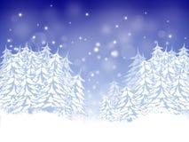 Κάρτα Χριστουγέννων με τα έλατα Στοκ φωτογραφία με δικαίωμα ελεύθερης χρήσης