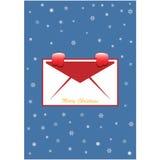 Κάρτα Χριστουγέννων με τα γάντια χιονιού απεικόνιση αποθεμάτων