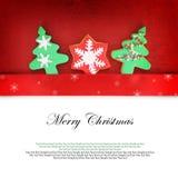 Κάρτα Χριστουγέννων με τα μπισκότα Στοκ Εικόνες