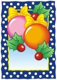 Κάρτα Χριστουγέννων με τα μπιχλιμπίδια απεικόνιση αποθεμάτων