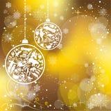 Κάρτα Χριστουγέννων με τα σύμβολα ορόσημων Στοκ Εικόνες