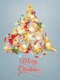 Κάρτα Χριστουγέννων με τη θέση για το κείμενο 10 eps Στοκ εικόνες με δικαίωμα ελεύθερης χρήσης