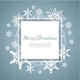 Κάρτα Χριστουγέννων με τη νιφάδα χιονιού εγγράφου  ελεύθερη απεικόνιση δικαιώματος