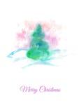 Κάρτα Χριστουγέννων με το κωνοφόρο απεικόνιση αποθεμάτων