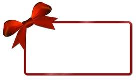 Κάρτα Χριστουγέννων με το κόκκινο τόξο Στοκ εικόνες με δικαίωμα ελεύθερης χρήσης