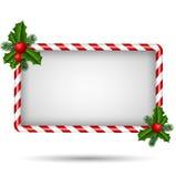 Κάρτα Χριστουγέννων με το πλαίσιο καραμελών Στοκ εικόνες με δικαίωμα ελεύθερης χρήσης