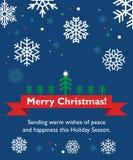 Κάρτα Χριστουγέννων με fir-tree Στοκ εικόνες με δικαίωμα ελεύθερης χρήσης