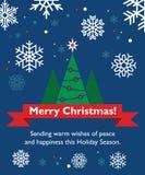 Κάρτα Χριστουγέννων με fir-tree Στοκ Φωτογραφίες