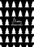 Κάρτα Χριστουγέννων με fir-trees διανυσματική απεικόνιση