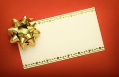 Κάρτα Χριστουγέννων που προσωποποιεί Στοκ Φωτογραφίες
