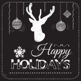 Κάρτα Χριστουγέννων στο διάνυσμα πινάκων κιμωλίας Στοκ εικόνα με δικαίωμα ελεύθερης χρήσης
