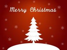 Κάρτα Χριστουγέννων στο κόκκινο επίπεδο ύφος Στοκ φωτογραφία με δικαίωμα ελεύθερης χρήσης