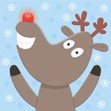 Κάρτα Χριστουγέννων του Rudolph Στοκ Φωτογραφία