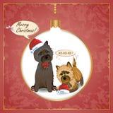 Κάρτα Χριστουγέννων τύμβων Στοκ φωτογραφία με δικαίωμα ελεύθερης χρήσης