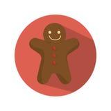 Κάρτα Χριστουγέννων ψωμιού πιπεροριζών Στοκ εικόνα με δικαίωμα ελεύθερης χρήσης