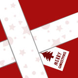 Κάρτα Χριστουγέννων δώρων εγγράφου Στοκ Εικόνες