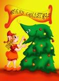 Κάρτα Χριστουγέννων 10 Στοκ εικόνα με δικαίωμα ελεύθερης χρήσης