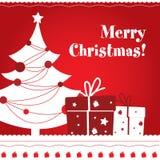 κάρτα Χριστουγέννων Στοκ Φωτογραφίες