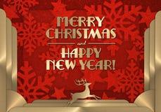 Κάρτα Χριστουγέννων Art Deco Στοκ φωτογραφία με δικαίωμα ελεύθερης χρήσης