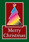 Κάρτα Χριστουγέννων CMYK Στοκ φωτογραφία με δικαίωμα ελεύθερης χρήσης