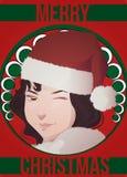 Κάρτα Χριστουγέννων deco τέχνης Στοκ εικόνα με δικαίωμα ελεύθερης χρήσης