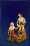 Κάρτα Χριστουγέννων Nativity Στοκ Εικόνες