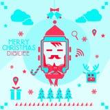 Κάρτα Χριστουγέννων Smartwatch ελεύθερη απεικόνιση δικαιώματος