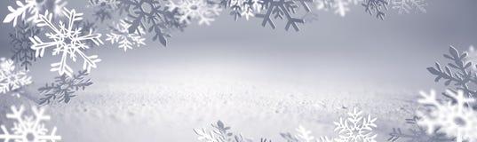 Κάρτα Χριστουγέννων - Snowflakes του εγγράφου διανυσματική απεικόνιση