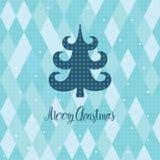 Κάρτα χριστουγεννιάτικων δέντρων Στοκ εικόνες με δικαίωμα ελεύθερης χρήσης
