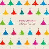 Κάρτα χριστουγεννιάτικων δέντρων ελεύθερη απεικόνιση δικαιώματος