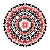 Κάρτα χρώματος διακοσμήσεων με το mandala Στοκ Εικόνες