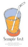 Κάρτα χυμού Στοκ φωτογραφία με δικαίωμα ελεύθερης χρήσης