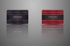 Κάρτα δώρων προτύπων, πιστωτική κάρτα, επαγγελματική κάρτα Στοκ Εικόνες
