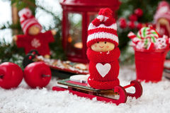 Κάρτα δώρων Χριστουγέννων με τη σύνθεση διακοπών Στοκ φωτογραφίες με δικαίωμα ελεύθερης χρήσης