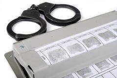 Κάρτα δακτυλικών αποτυπωμάτων Στοκ εικόνες με δικαίωμα ελεύθερης χρήσης