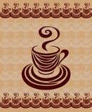 Κάρτα 1 φλυτζανιών καφέ. Στοκ Φωτογραφίες
