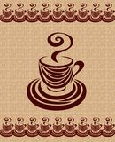 Κάρτα 3 φλυτζανιών καφέ. Στοκ φωτογραφία με δικαίωμα ελεύθερης χρήσης