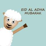 Κάρτα Al Adha Μουμπάρακ Eid Στοκ Φωτογραφίες