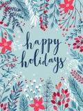 Κάρτα Callygraphic Χριστουγέννων απεικόνιση αποθεμάτων