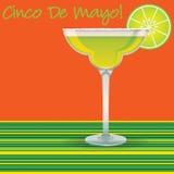 Κάρτα Cinco de Mayo Μαργαρίτα Στοκ φωτογραφία με δικαίωμα ελεύθερης χρήσης