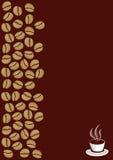 Κάρτα Coffe Στοκ Εικόνες