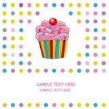 κάρτα cupcake Στοκ φωτογραφία με δικαίωμα ελεύθερης χρήσης