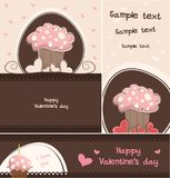 Κάρτα Cupcake Στοκ Εικόνες