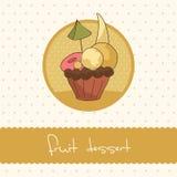 Κάρτα Cupcake Στοκ εικόνα με δικαίωμα ελεύθερης χρήσης