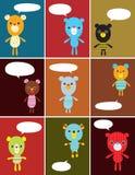 κάρτα doodle teddy στοκ εικόνα με δικαίωμα ελεύθερης χρήσης