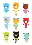 κάρτα doodle teddy στοκ φωτογραφίες με δικαίωμα ελεύθερης χρήσης